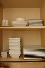 Tesco White Porcelain Square Plates/Bowls * Available 13th Nov *