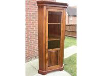 Solid wood corner display cabinet