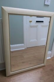 CREAM coloured wooden framed MIRROR