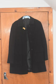 Quattro Black Wool coat, size 42 / 10-12 (Made in Italy)