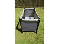 boots travel cot, folds flat into carry bag. good clean condition