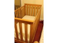 cot bed and mattress from mothercare