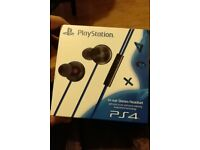 PS4 noise cancelling In-ear stereo headset. Brand new.