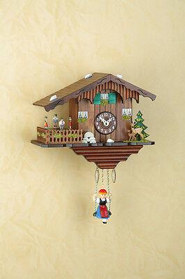 Pendulum clock Black Forest Cuckoo clock turning dancers MADE in GERMANY 265SQ