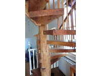Lebanese wood spiral staircase