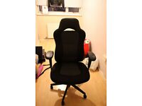 Soft Black Comfy Office Chair With Adjusters RRP £100 SELLING CHEAP