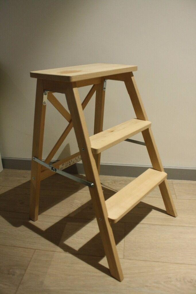 Ikea Bekvam Folding Foldable Stepladder Step Stool Rrp 29