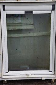 TWO VELUX WINDOWS PIVOT STYLE LAMINATED WITH BLINDS AND FLASHING £275.00