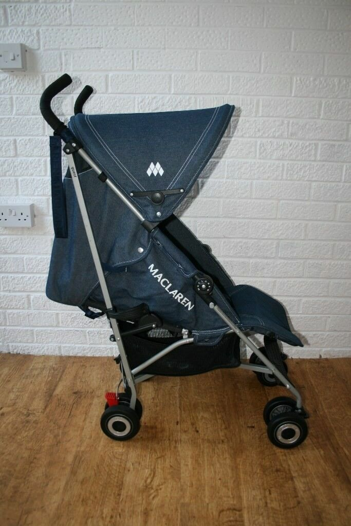 711b031cb34 Maclaren Quest denim pushchair buggy  can post