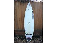 Adams 6ft Triple Fin Surfboard