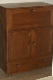 Ercol Bureau/ drinks cabinet in Elm and very good condition
