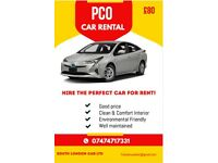 PCO CAR HIRE - PCO CAR RENTAL / Uber ready / Toyota Prius / TAXI HIRE / RENT A CAR