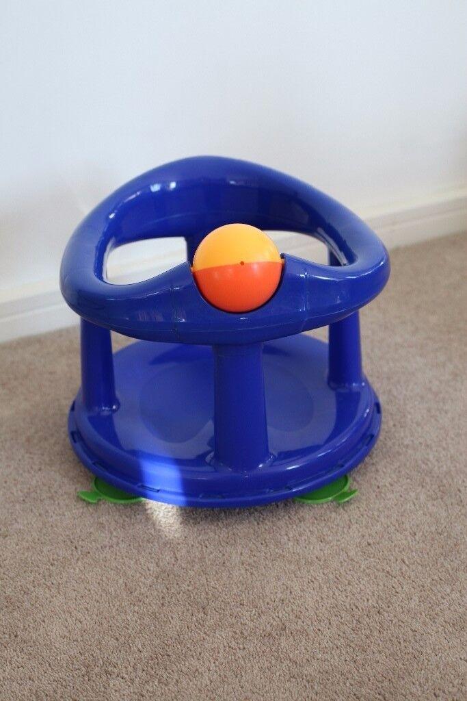 Safety 1st Swivel Bath Seat - Blue 6+ Months, 7-10 kg, suction pads ensure stability 29 x 31 x 34 cm