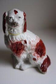 Staffordshire pottery Spaniel dog