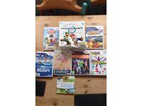 Wii, 8 games & accessories