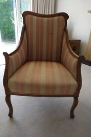 French fruit wood armchair in need of new upholstery