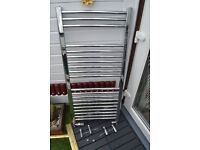 Stainles steel towel radiator.