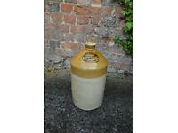 Vintage stoneware flagon demijohn - Webb & Salmon brewery Landport