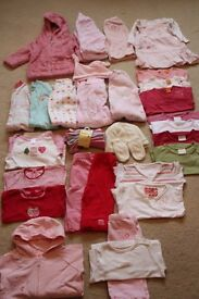 BABY GIRL CLOTHES BUNDLE 3-6 MONTHS INCLUDING NEXT, M&S, MOTHERCARE, GAP