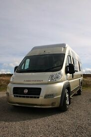 Globecar Familyscout 6 berth campervan with 6 seat belts
