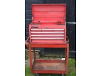 tool box & trolley used see picture