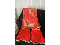 ASIAN LADIES OUTFIT RED