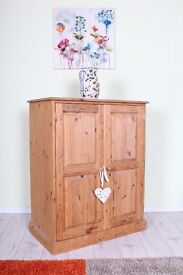 DELIVERY OPTIONS - SMALL PINE SHABBY CHIC WARDROBE FOR CHILDS ROOM (PROJECT)