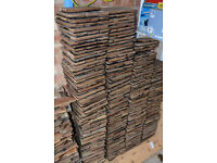 Approx 750 qty of reclaimed 8 x 2.75 inch wooden parquet flooring blocks (approx 10 sq m)