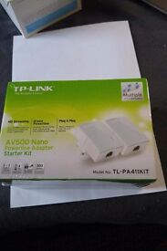 nano av 500 poweline internet adaptor new sealed