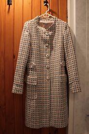 Naf-Naf Paris Patterned Coat - Size 10-(UK) 38-(EU)