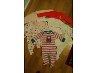 Baby girl clothes sleepsuits/babygrows bundle 0-3 months