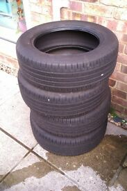 New, 4 x Continental Ecocontac Tyres, 205 55 R16 91V £160, No Offers