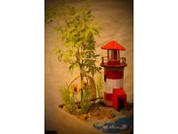 Red-White Lighthouse 100% handmade
