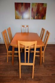 kitchen table - extendable + 6 chairs