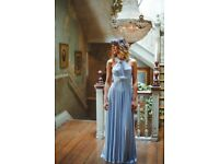 Two Birds Classic Ballgown Bridesmaid Dress in Light Blue (inlcudes bandeau) in perfect condition