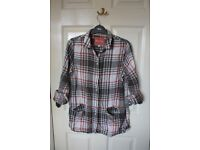 Grey and red plaid White Stuff shirt. size 12