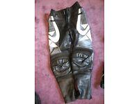 Ladies Motorcycle leather trousers Frank Thomas size UK10, EUR36