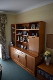 G plan sideboard/dresser with drawer, upper shelving and two cabinets