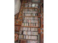 Music casette tapes. 300+