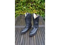 Cowboy boots. Canadian. Size 7 - 71/2 G fitting. Black. Hardly worn.