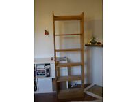 Floor standing IKEA Pine wooden bookshelf (6 tier)