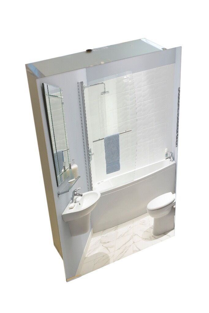 Aluminium Bathroom Cabinetin Uttoxeter, StaffordshireGumtree - Aluminium Bathroom Cabinet Ex Display Aluminium carcass 450 x 750 x 175mm (W x H xD) Double Sided Mirror 3 Adjustable glass shelves Complete with adjustable fixing brackets