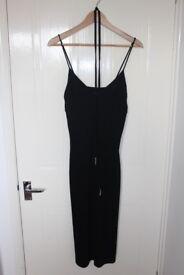 Oasis Black Cami Midi Dress, size 12 - Worn Once!
