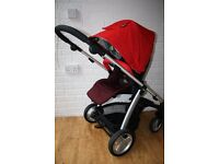 Red Mamas and Papas Sola 2 pram pushchair - can post -