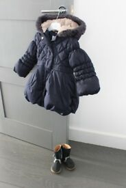 Baby Girl Clothes 18-24 Months Winter Jacket Coat by Jasper Conran