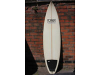 6ft 5 Power Point Shortboard by Andy Jacks plus Travel Bag
