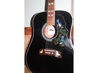 Vintage Lorenzo Acoustic Guitar, Based on Gibson Dove.