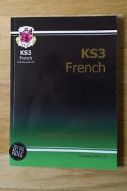 FREE CGP Key Stage 3 French Complete Revision & Practice book with Audio CD