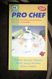 JML Pro Chef Multi Function Kitchen Tools Set, Unused, Still Boxed, Non Electric, see Info, Histon