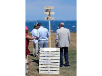 Wedding Events Sign Wooden with post